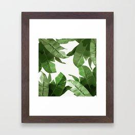 Tropical Palm Print Treetop Greenery Framed Art Print