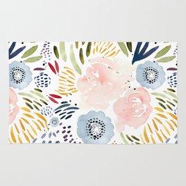 Watercolor Florals Rug