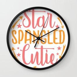 star spangled cutie - Adventure Design Wall Clock