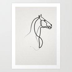 oneline Horse 0301 Art Print