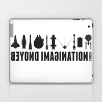 Beyond imagination: Space Shuttle postage stamp Laptop & iPad Skin