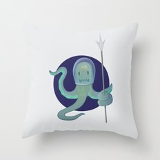 Lil Alien - Squiddy  Throw Pillow