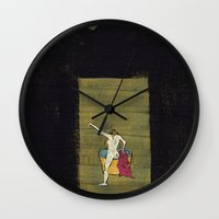 degas Wall Clocks featuring The Bath by Dawn Patel Art