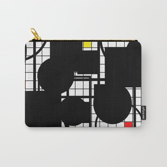 Colour Relationships - Black, white, red, yellow, blue, geometric abstract artwork Carry-All Pouch