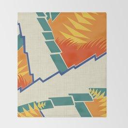 AGONDA Art Deco Modern: FISH BOWL Throw Blanket