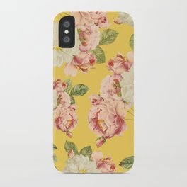 Flora temptation - sunny mustard iPhone Case