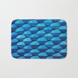 Fish 101 shades of blue Bath Mat