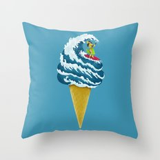 Perfect Wave Throw Pillow
