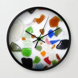 Parti Colour Seaglass Wall Clock