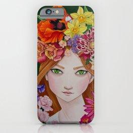 Douze Mois de Fleurs (12 Months of Flowers) iPhone Case
