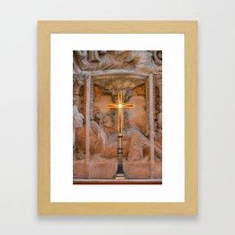 Christchurch Priory - Jesus on the Cross Framed Art Print