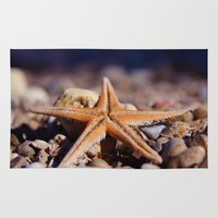 starfish Area & Throw Rugs featuring Starfish by Ersen-T