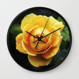 Golden Rose Wall Clock