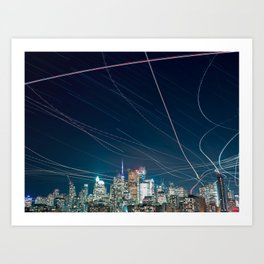 Urban Nights, Urban Lights 1 Art Print