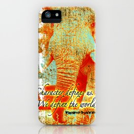 Character that which defines us. iPhone Case