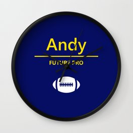 Andy Future Football Player Wall Clock