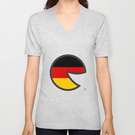 Germany Smile Unisex V-Neck