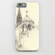 Notre Dame Cathedral Sketch iPhone 6s Slim Case