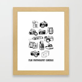 Film Photography Cameras  Framed Art Print