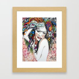 Thinking About Thinking Framed Art Print