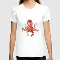 watercolour T-shirts featuring octo by Okti