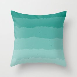 Teal Clouds Layers Throw Pillow