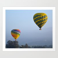 ballon Art Prints featuring Ballon Ride by Jim Marino