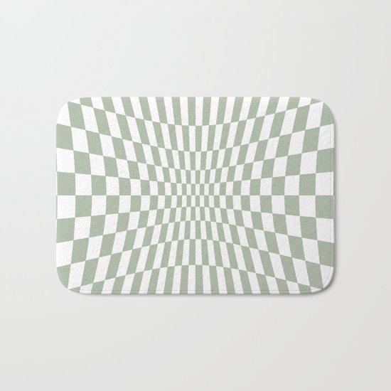 Optical Game Mint Green Bath Mat