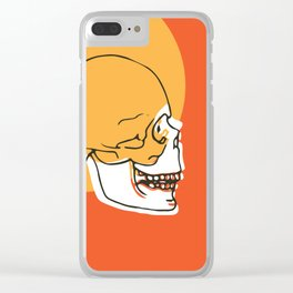 Skull Expand Clear iPhone Case