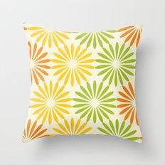 Zesty Burst Throw Pillow