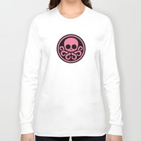 hydra Long Sleeve T-shirts featuring Pink Hydra by Arne AKA Ratscape