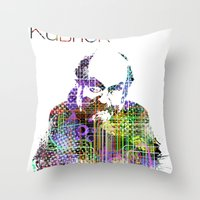 kubrick Throw Pillows featuring Kubrick by Zoé Rikardo