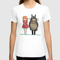 ponyo T-shirts featuring totoro and ponyo by Newspaper Balloon