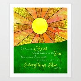 Christ like the Sun Art Print