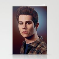 stiles stilinski Stationery Cards featuring Stiles Stilinski / Dylan O'Brien by theconsy