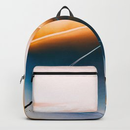The plane in the sky Backpack