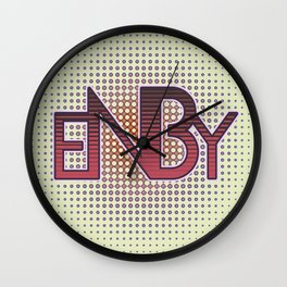 ENBY Red Wall Clock