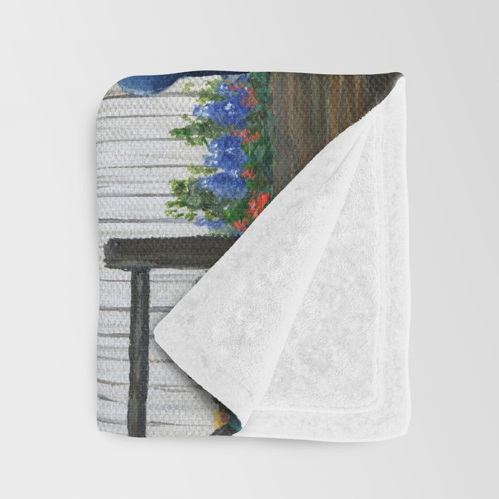 Flower Farm Truck Throw Blanket