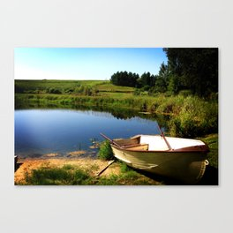 By the Pond at Echo Valley Farm Canvas Print