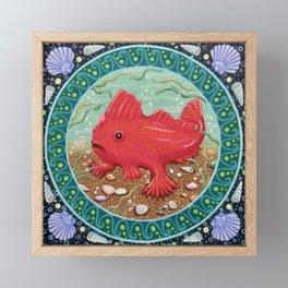 Endangered species: Red Handfish Framed Mini Art Print