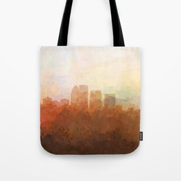 Louisville, Kentucky Skyline - In the Clouds Tote Bag