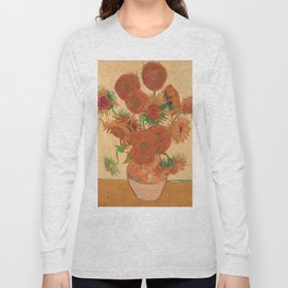 Still Life: Vase with Fourteen Sunflowers by Vincent van Gogh Long Sleeve T-shirt