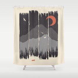 Winter Mountain Weather... Shower Curtain