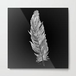 Light white feather Metal Print