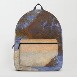 Claude Monet - Haystacks, Snow Effect - Digital Remastered Edition Backpack