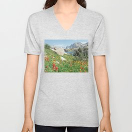 August Wildflowers in the Rockies Unisex V-Neck