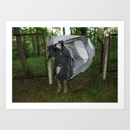 It's a Matter of Fact that it Always Rains on Tents Art Print