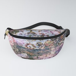 Shabby Chic floral rococo woodpanel Fanny Pack
