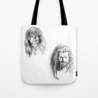 fili Tote Bags featuring Fili and Kili by Morgan Ofsharick - meoillustration