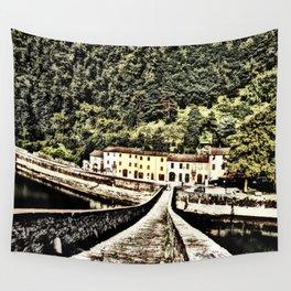 Ponte della Maddalena-Tuscany, Italy Wall Tapestry